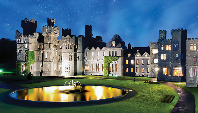 Fancy-Round-Pool-With-Small-Fountain-Great-Ashford-Castle